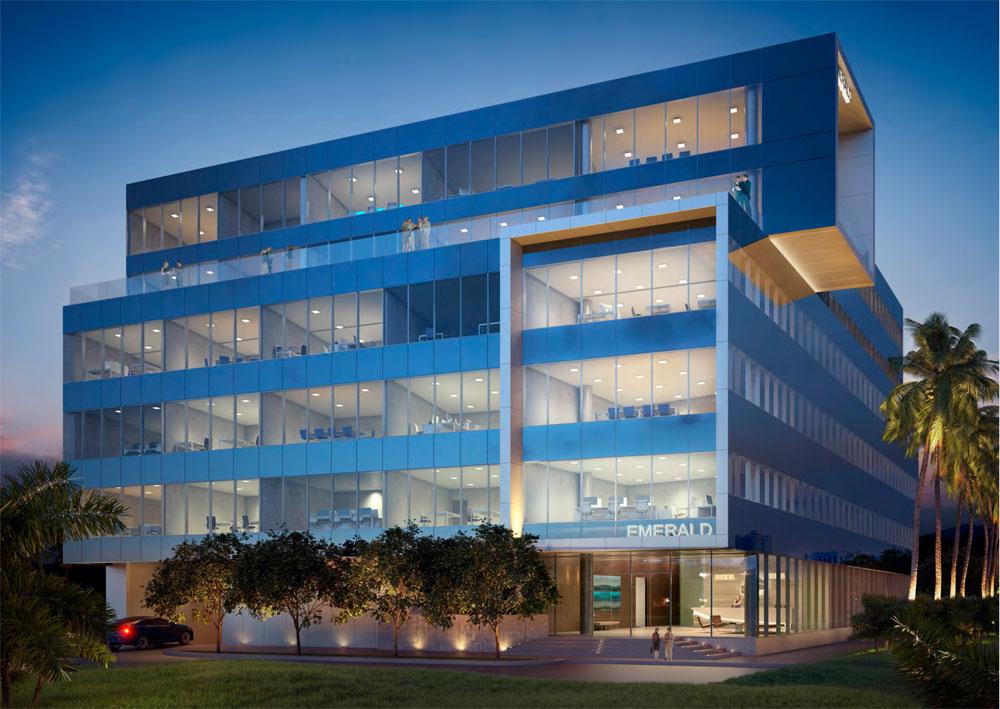 Emerald Aventura, New Class A Office Building - Night View
