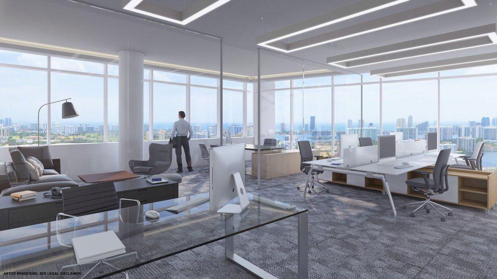 Emerald Aventura, New Class A Office Building - Interiors