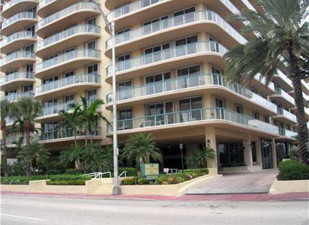 Champlain Towers condos in Surfside, Miami Beach, Florida