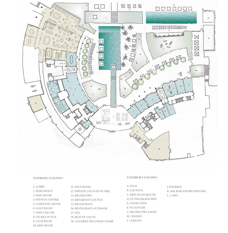Auberge Amenities Plan