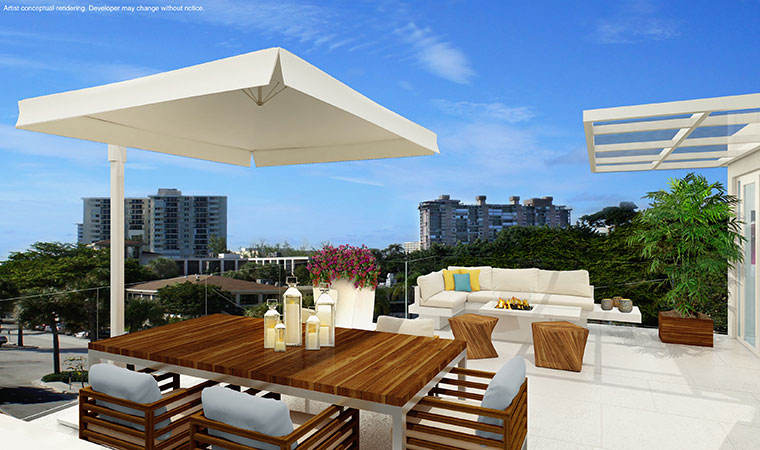 Townhome Rooftop Terrace