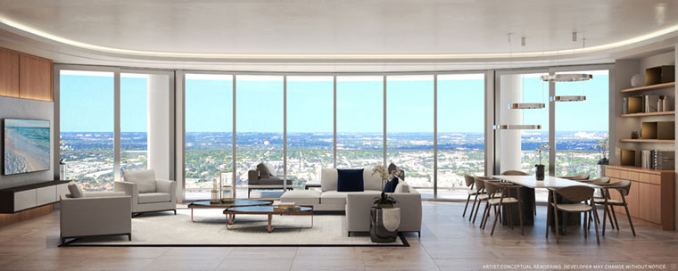 100 Las Olas Unit C Living