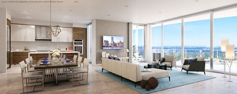 100 Las Olas Unit D Living