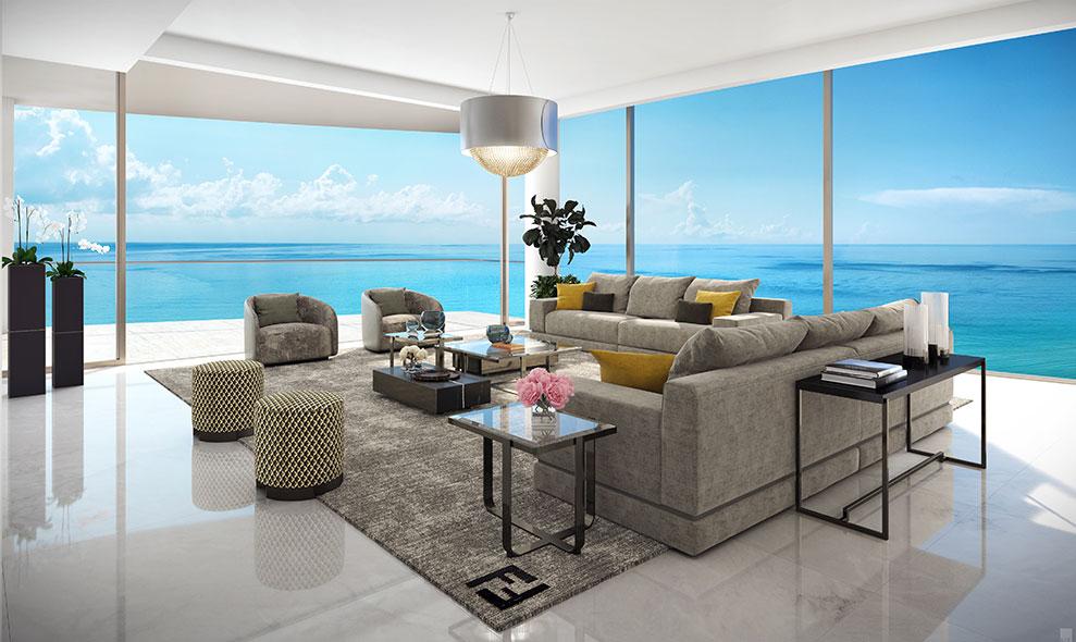 Amalfi Living Room Close Up