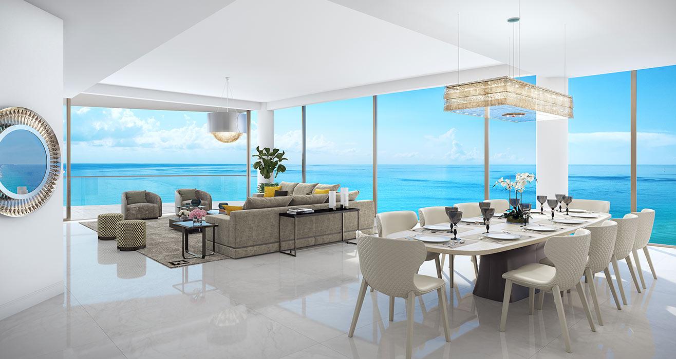 Amalfi Dining Room and Living Room