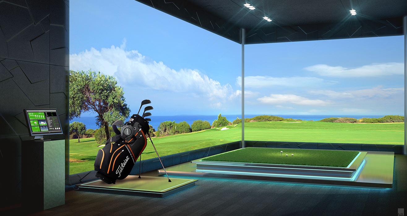 Acqualina Estates Golf Simulator