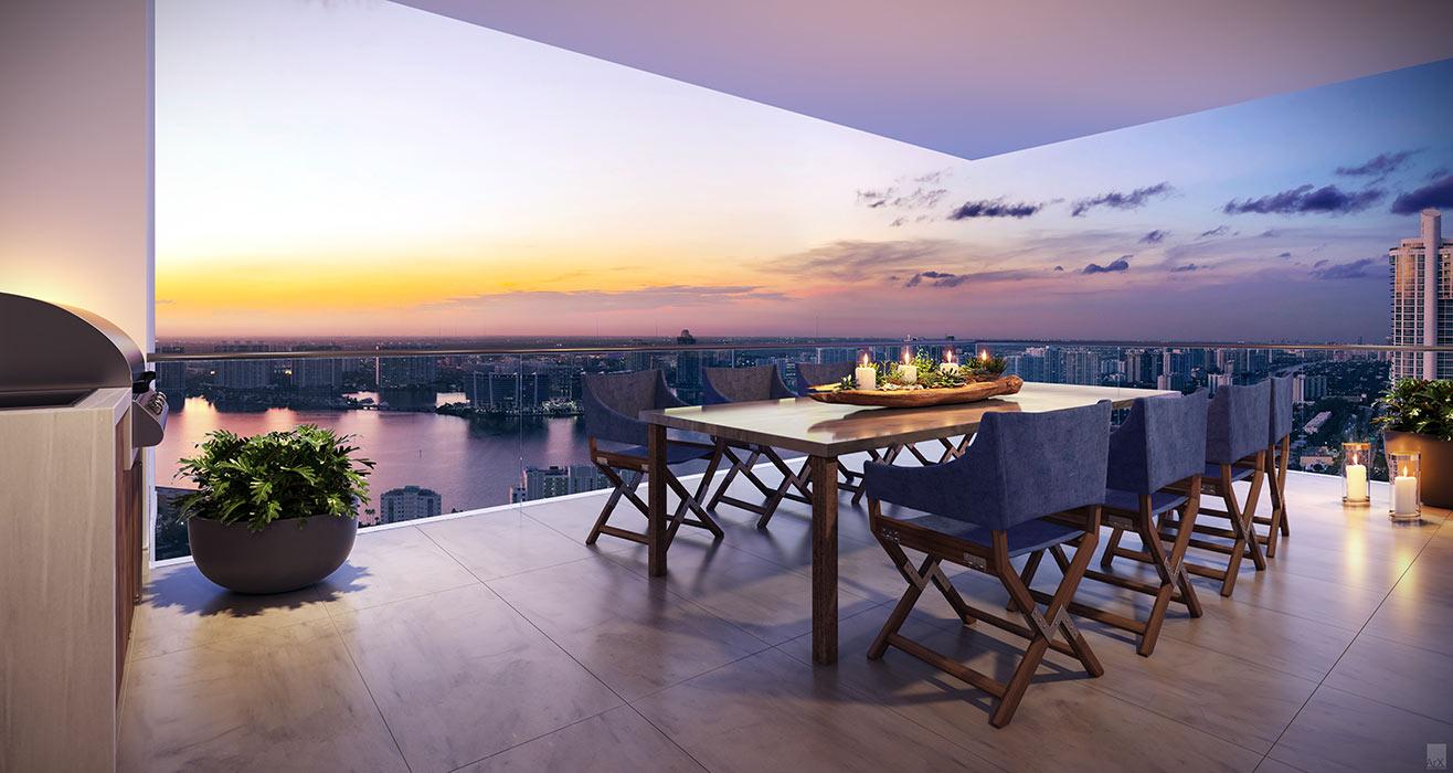 Ravello West Terrace with Aummer Kitchen