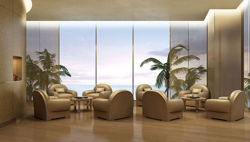 Armani Tower Luxury Oceanfront Residences - Cigar Room