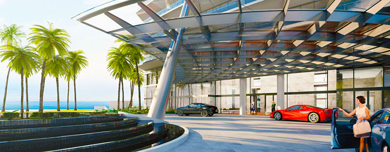 Armani Tower Luxury Oceanfront Residences - Entrance