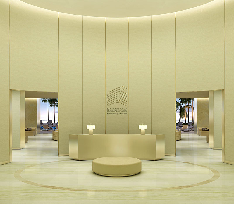 Armani Tower Luxury Oceanfront Residences - Lobby