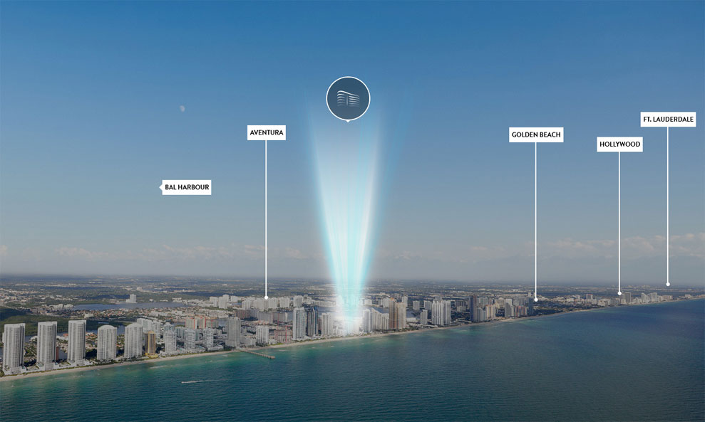 Aurora Residences, New Development in Sunny Isles Beach - View