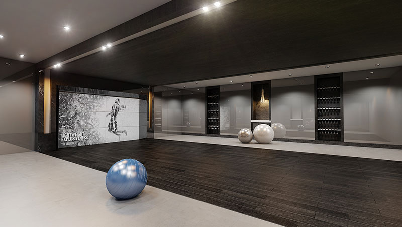 Aurora Residences, New Development in Sunny Isles Beach - Gym
