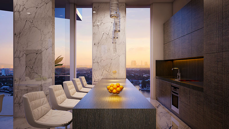 Aurora Residences, New Development in Sunny Isles Beach - Kitchen