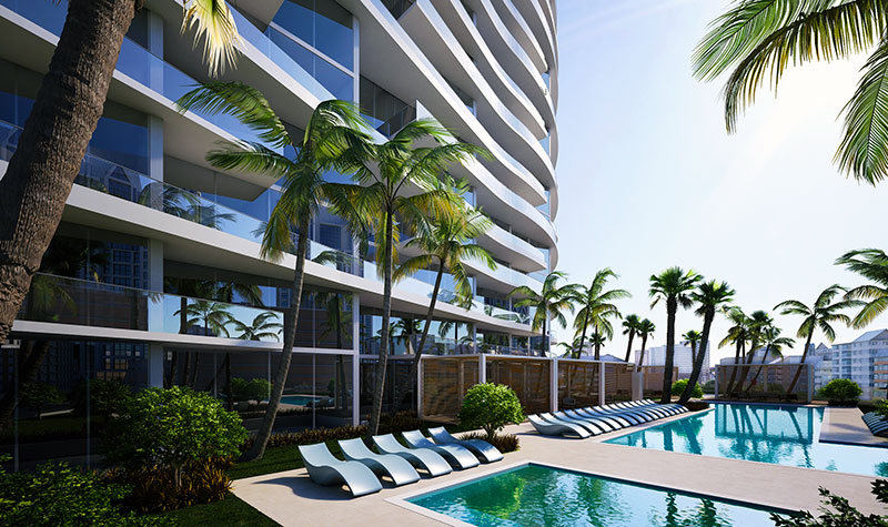 Aurora Residences, New Development in Sunny Isles Beach - Pool