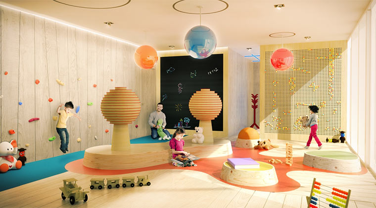 Brickell Flatiron Kid's Playroom