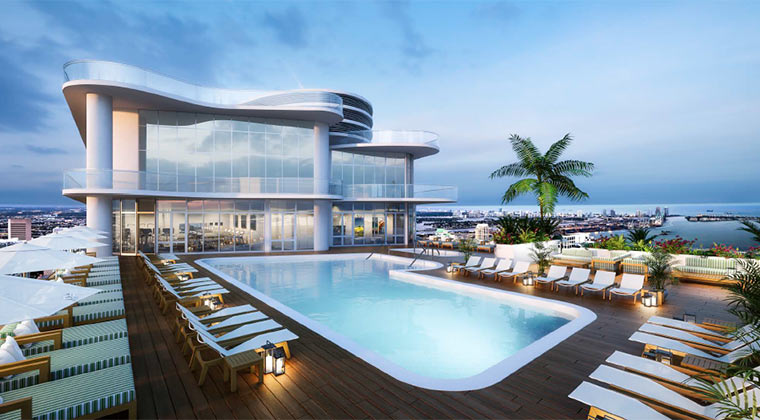 Brickell Flatiron Rooftop Pool