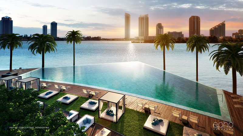 ECHO Aventura, New Luxury Waterfront Residences - Infinity Pool