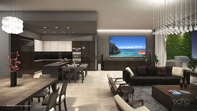 ECHO Aventura, New Luxury Waterfront Residences - ALL RESIDENCES DELIVERED FURNITURE READY, INTERIOR DESIGN BY YABU PUSHELBERG