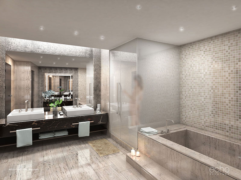 ECHO Aventura, New Luxury Waterfront Residences - Master Bathroom