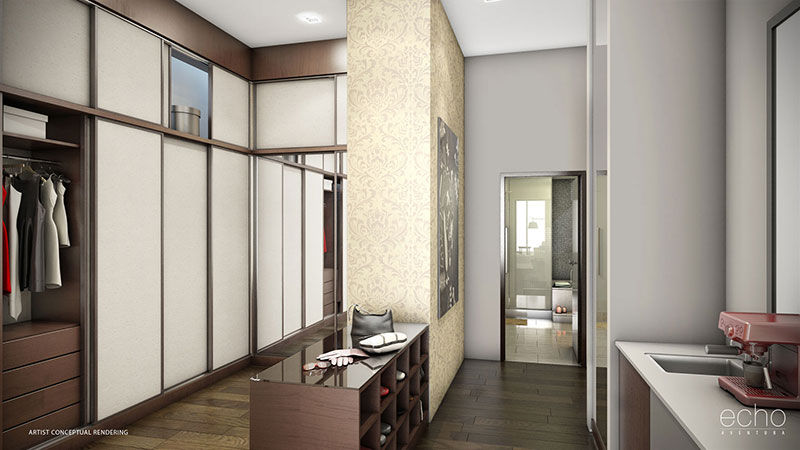ECHO Aventura, New Luxury Waterfront Residences - Master Walk-in Closet