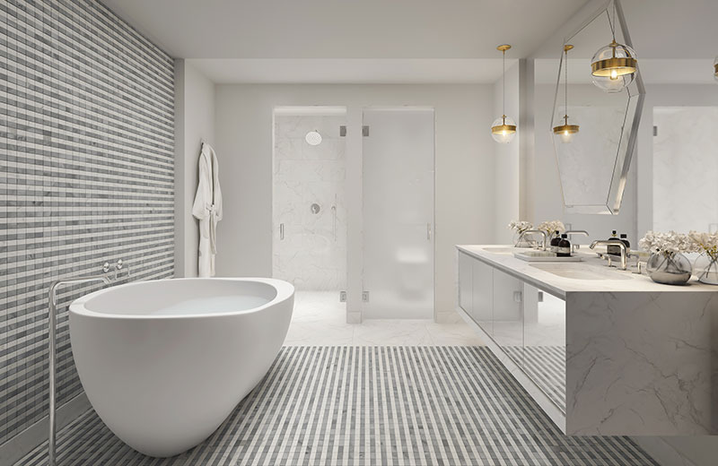 Elysee, New Luxury Boutique Tower in Edgewater Miami -  Bathroom