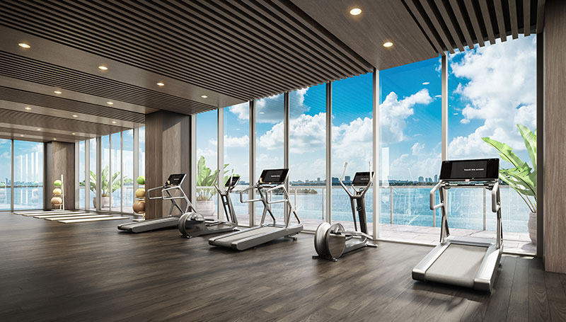 Elysee, New Luxury Boutique Tower in Edgewater Miami - Gym