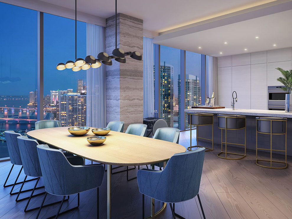 Elysee, New Luxury Boutique Tower in Edgewater Miami -  Family Room