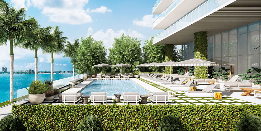 Elysee, New Luxury Boutique Tower in Edgewater Miami - Pool