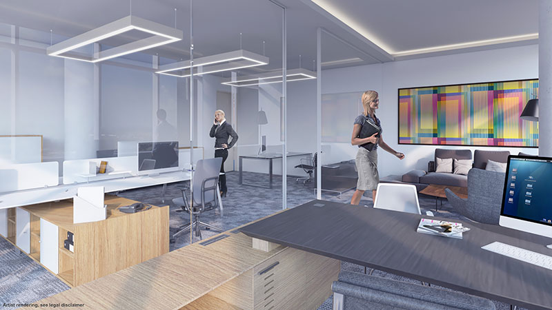 Emerald Aventura, New Class A Office Building - Interiors