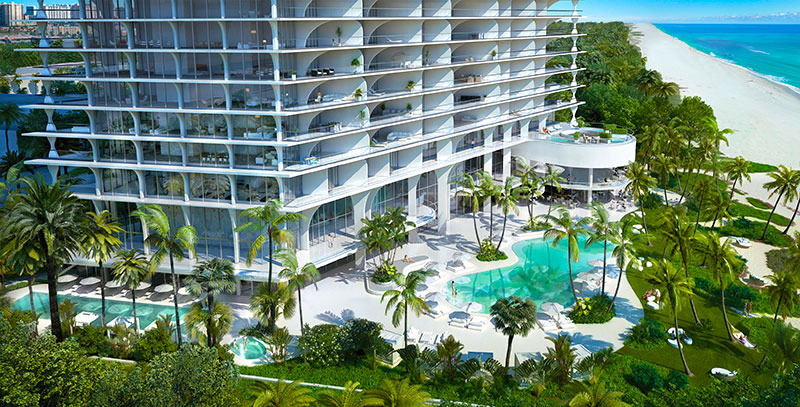 New Jade Signature Residences in Sunny Isles Beach - Pool
