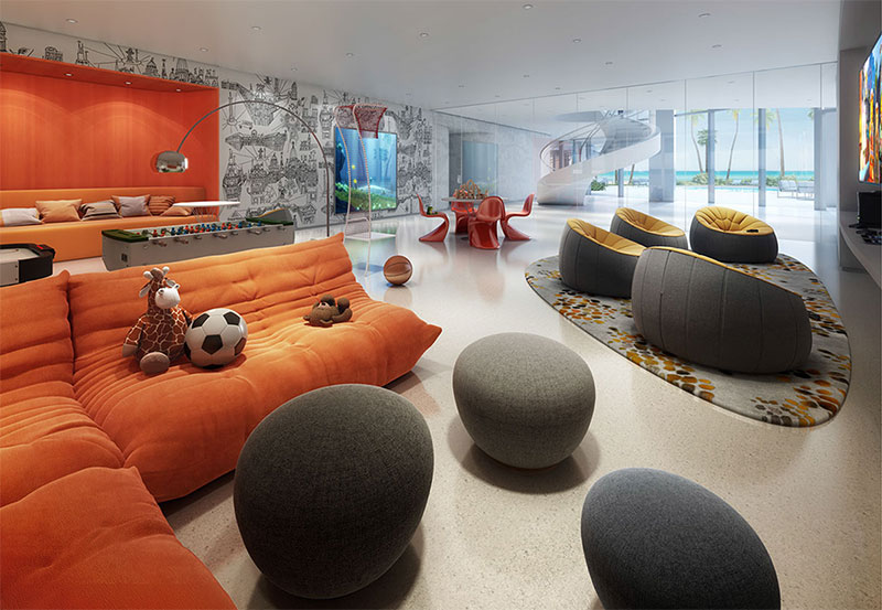 New Jade Signature Residences in Sunny Isles Beach - Kids Room