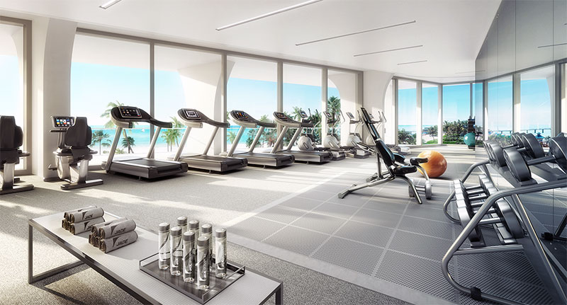 New Jade Signature Residences in Sunny Isles Beach - Gym