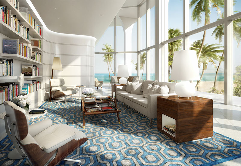 New Jade Signature Residences in Sunny Isles Beach - Library