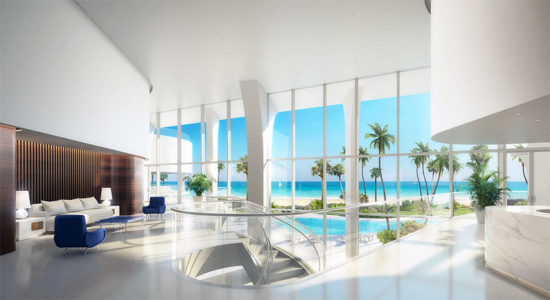 New Jade Signature Residences in Sunny Isles Beach - Lobby