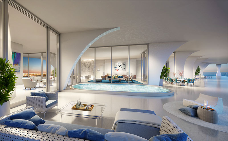 New Jade Signature Residences in Sunny Isles Beach - Penthouse Terrace