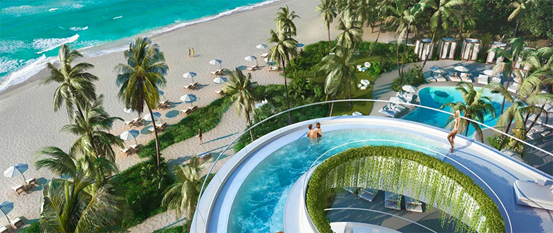 New Jade Signature Residences in Sunny Isles Beach - Pool with BeachView