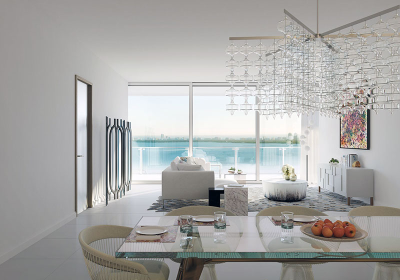 Missoni Baia Residences in Miami, Livingroom