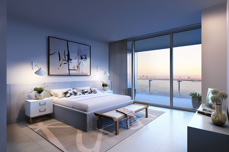 Missoni Baia Residences in Miami, Master Bedroom