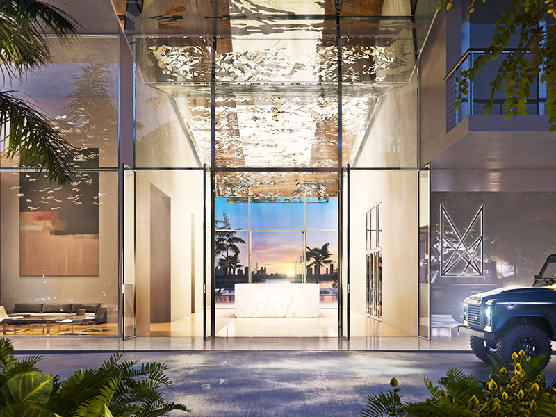 Monad Terrace Waterfront Residences in South Beach, Entrance