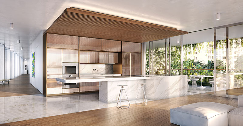 Monad Terrace Waterfront Residences in South Beach, Kitchen
