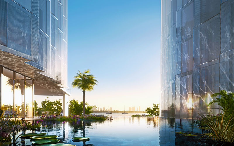 Monad Terrace Waterfront Residences in South Beach, Lagoon