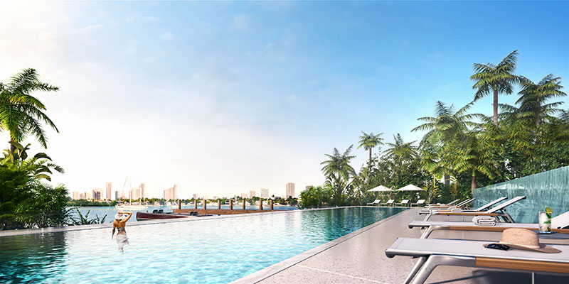Monad Terrace Waterfront Residences in South Beach, Infinity Pool