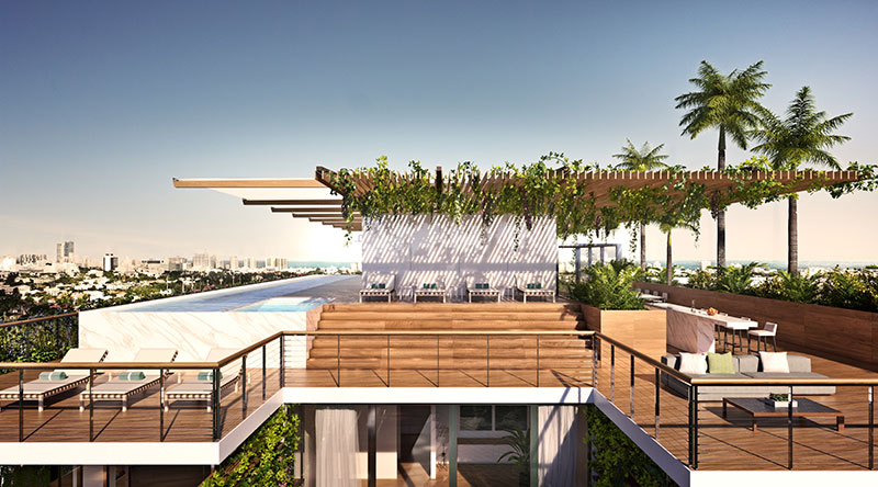 Monad Terrace Waterfront Residences in South Beach, Roof Terrace
