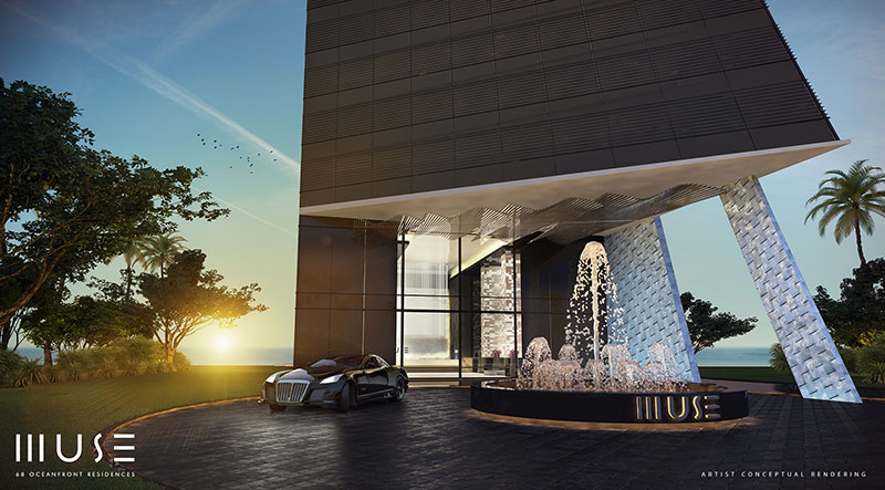 MUSE Sunny Isles Residences - Entrance
