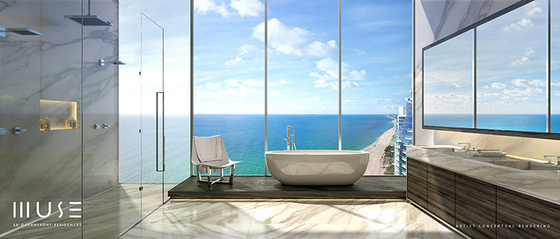 MUSE Sunny Isles Residences - Master Bathroom