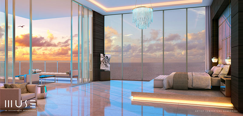 MUSE Sunny Isles Residences - Master Bedroom
