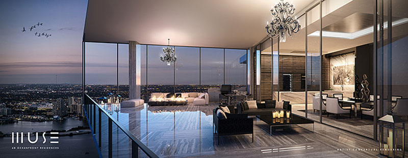 MUSE Sunny Isles Residences - Penthouse Terrace
