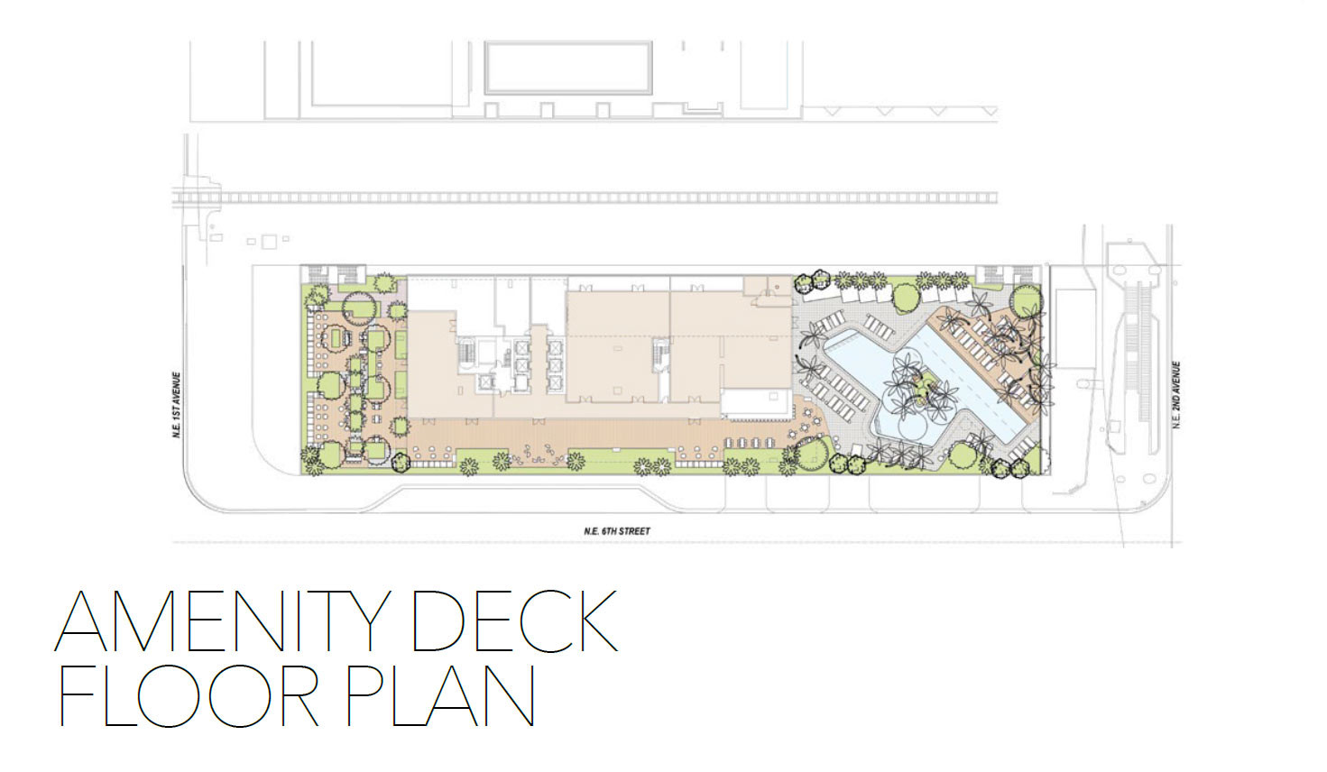 Natiivo Amenity Deck Floorplan
