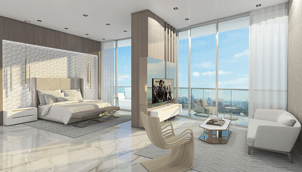 Penthouse Master Bedroom and Family Room