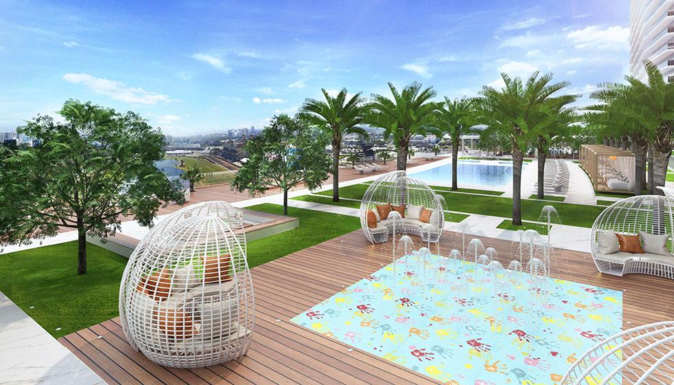 Oasis Hallandale Pool Deck